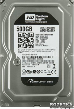 Жорсткий диск Western Digital Black 500GB 7200rpm 64MB WD5003AZEX 3.5 SATA III
