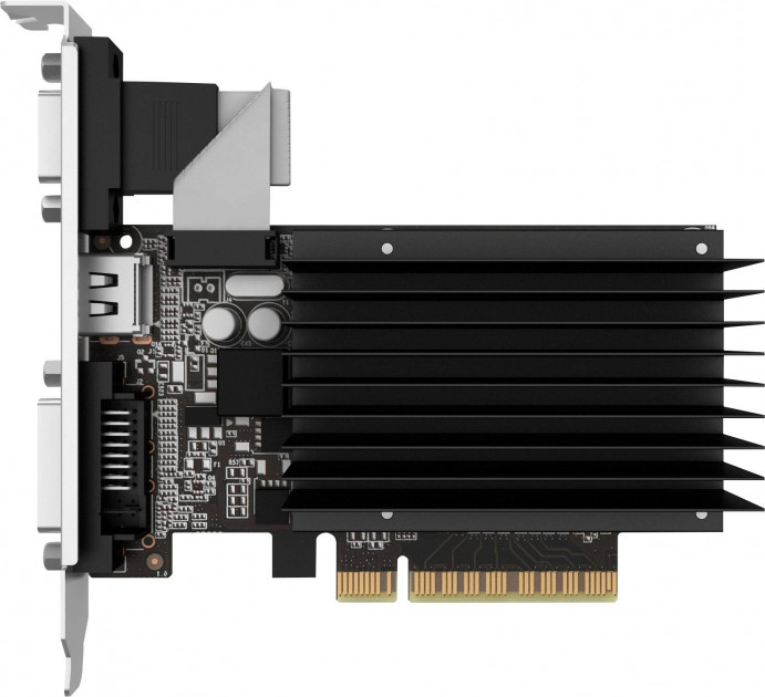 Palit PCI-Ex GeForce GT 710 2048MB DDR3 (64bit) (954/1600) (VGA, DVI, HDMI) (NEAT7100HD46-2080H) - зображення 1