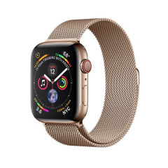 Apple Watch Series 4 GPS+CELLULAR 44mm Gold Stainless Steel Case with Gold Milanese Loop (MTV82)