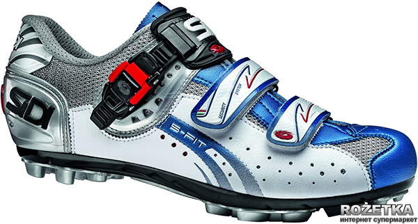 Велотуфли МТБ SIDI Eagle 5-Fit 38 Steel/White/Blue (CEAGLE5F-38sw)