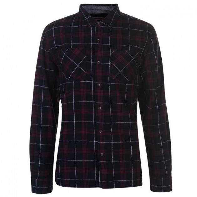 Рубашка SoulCal Flannel Black/Wht/Red, M (10091349)