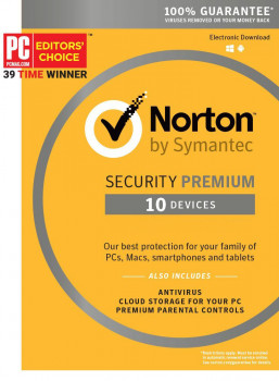 Антивірус Norton Security Premium 3.0 для 10 ПК на 3 роки ESD-електронний ключ у конверті (C4526686)