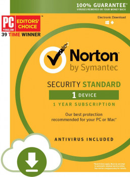 Антивірус Norton Security Standart 3.0 для 1 ПК на 1 рік ESD-електронний ключ у конверті (C4526657)