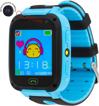 Смарт-годинник Atrix Smart Watch iQ1400 Cam Flash GPS Blue (iQ1400 Blue)
