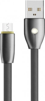 Кабель Evoc LED Series 2.0A MicroUSB 1 м Dark Grey (156427)
