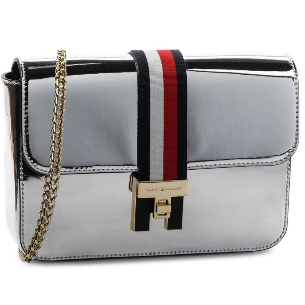 a1f436383810 Сумка женская TOMMY HILFIGER Th Heritage Xover Me AW05836 серебро  (8719704562302)