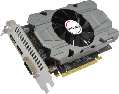 AFOX PCI-Ex GeForce GTX1050 2GB GDDR5 (128bit) (1355/7008) (DVI, HDMI, DisplayPort) (AF1050-2048D5H7)