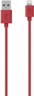 Belkin iPhone Data Cable 1.2m Red (F8J023bt04-RED)