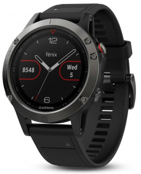 GPS-годинник Garmin Fenix 5 Slate Gray with Black Band (010-01688-00)