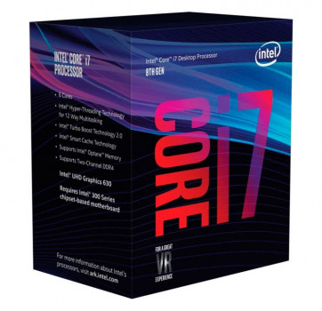 Процесор Intel Core i7 LGA1151 i78700 Box 6x32 GHz Turbo Boost 46 GHz UHD Graphic 630 1200 MHz L3 12Mb Coffee Lake 14 nm