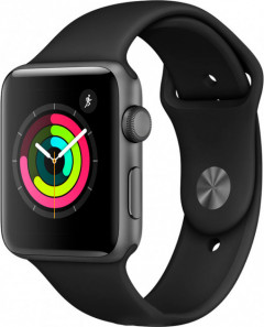 Apple Watch Series 3 GPS 42mm Space Gray Aluminium Case with Black Sport Band - Б/у