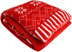 Плед Excellent Houseware Red Snowflakes 130x150 (AAE251020)