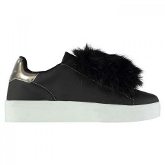 кросівки Fabric Cassie Mary Jane Shoes Black/Fur, 40 (255 мм) (10095638)