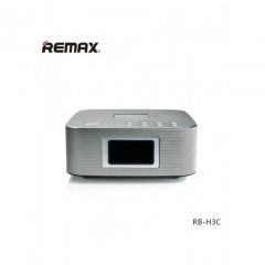 Bluetooth Колонка Remax RB-H3 3 in 1 BT3.0 Speaker with Alarm Clock Silver (vn218)