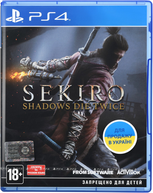 Игра Sekiro: Shadows Die Twice для PS4 (Blu-ray диск, Russian version)