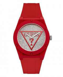 Часы Guess Iconic Glitter Red Silver Watch 42 mm