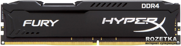 Оперативная память Kingston DDR4-2133 4096MB PC4-17000 HyperX FURY Black (HX421C14FB/4)