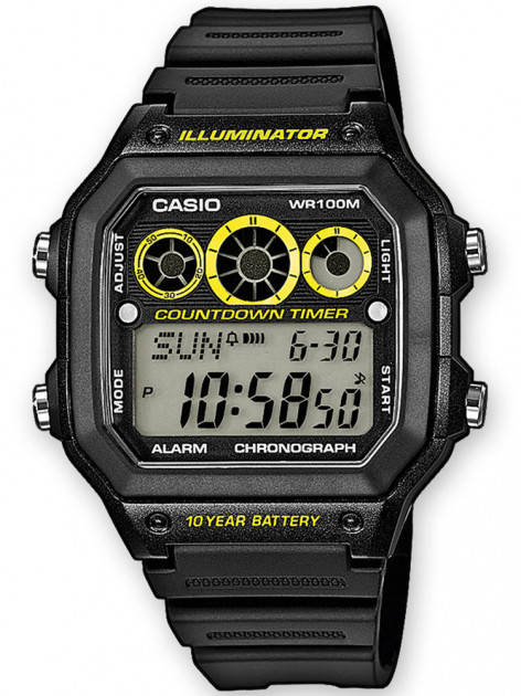 Часы CASIO AE-1300WH-1AVEF Collection 10ATM 42mm