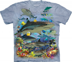 Футболка The Mountain Reef Sharks 4XL Голубой (105943)