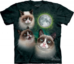 Футболка The Mountain Three Grumpy Cat Moon S Зеленый (103690)