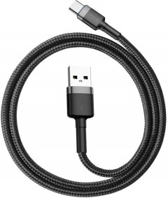 Кабель Baseus Cafule Cable USB for Type-C 3A 0.5 м Gray/Black (CATKLF-AG1)