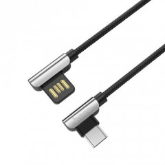 USB Кабель Hoco U42 Exquisite steel Type-C 1.2м черный (30905)
