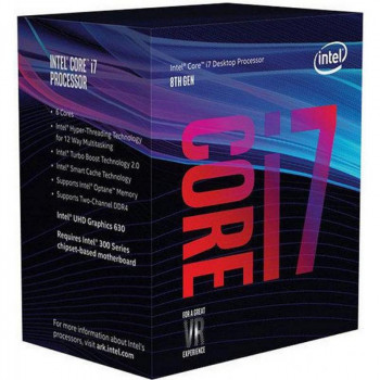 Процесор Intel Core i7 8700K 3.7 GHz (12MB, Coffee Lake, 95W, S1151) Box (BX80684I78700K) no cooler
