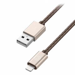 Кабель Lab.C Lightning Leather Cable A.L 1.8m Champagne Gold (LABC-511-GD)