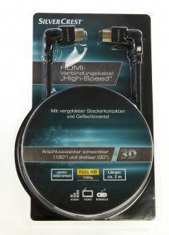 "Кабель ""Silvercrest HDMI High Speed"" SilverCrest Черный-серый M13-990040"