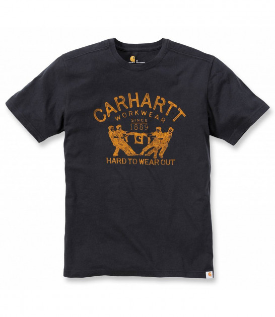 Футболка Carhartt Hard To Wear Out Graphic T-Shirt S/S - 102097 (Black, XL)