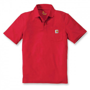 Поло Carhartt Work Pocket Polo S/S - K570 (Red, L)