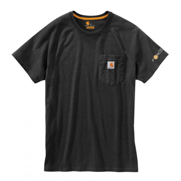 Футболка Carhartt Force Cotton T-Shirt S/S - 100410 (Black, M) - изображение 1