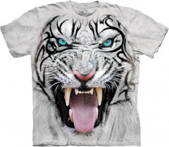 Футболка The Mountain Big Face Tribal White Tiger XL Белый (103953)