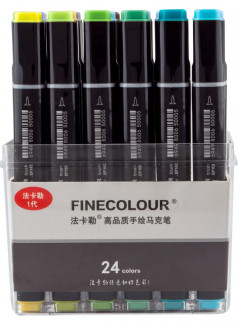 Набор маркеров Finecolour Brush 24 цвета (EF102-TB24)