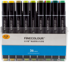 Набор маркеров Finecolour Brush 36 цветов (EF102-TB36)