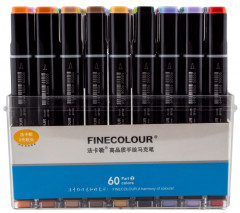 Набор маркеров Finecolour Brush 60 цветов (EF102-TB60)