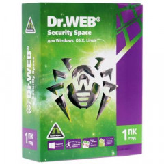 Антивирус Dr. Web Security Space, 1 ПК 1 год карт. конверт (KHW-B-12M-1-A3)