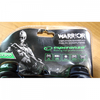 Геймпад Esperanza Vibration Warrior PC/PS3 Black (EG102)