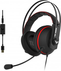 Наушники Asus TUF Gaming H7 Red (90YH01VR-B8UA00)