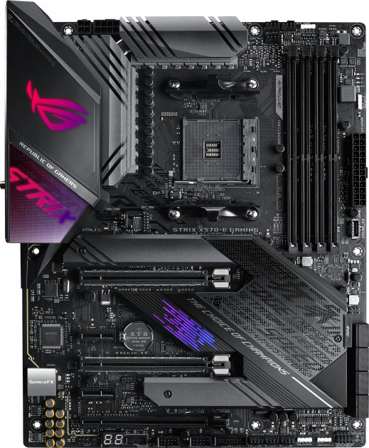 Материнская плата Asus ROG Strix X570-E Gaming (sAM4, AMD X570, PCI-Ex16) - изображение 1