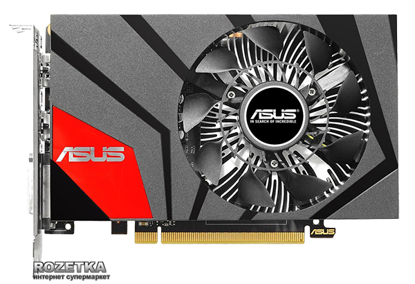 Asus PCI-Ex GeForce GTX 950 Mini 2048MB GDDR5 (128bit) (1026/6610) (DVI, HDMI, DisplayPort) (GTX950-M-2GD5)