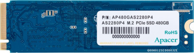 Apacer AS2280P4 480GB NVMe M.2 2280 PCIe 3.0 x4 3D NAND TLC (AP480GAS2280P4-1)