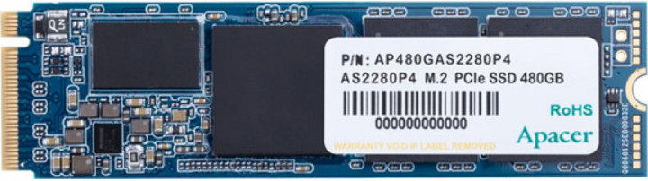 Apacer AS2280P4 480GB NVMe M.2 2280 PCIe 3.0 x4 3D NAND TLC (AP480GAS2280P4-1) - изображение 1