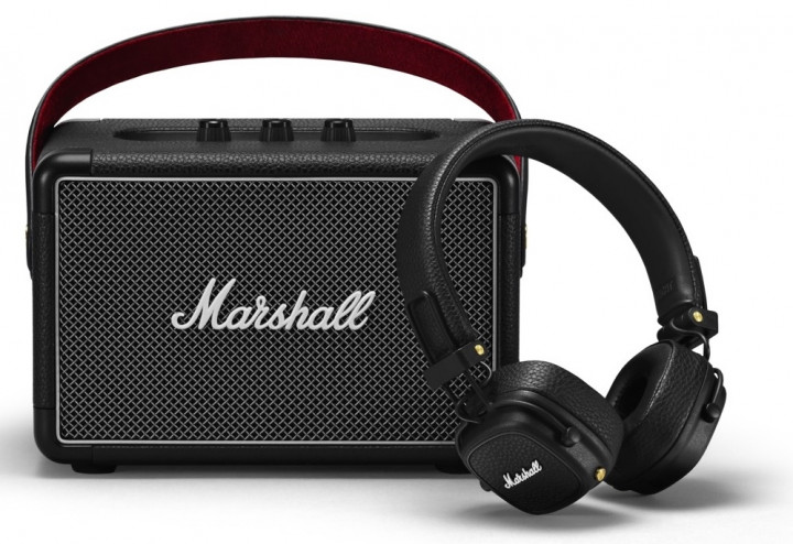 Marshall Summer Bundle (Акустика Kilburn II Black + Наушники Major III Bluetooth Black) - изображение 1