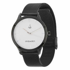 Женские часы Andywatch Universe Blacknight White Silver AWblack3