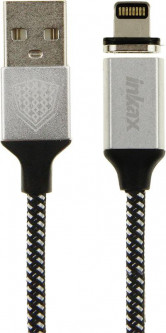 INKAX CK-50 magnetic Lightning cable 1m Black