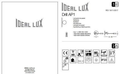 Спот Ideal Lux DRILL AP1 CROMO (153599)
