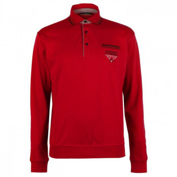 Поло Pierre Cardin Tipped Collar Long Sleeve Polo Red, S (10072953)