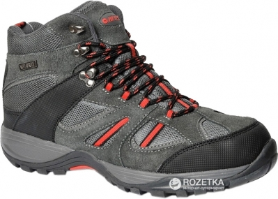 9e6b7029 Ботинки Hi-Tec Barryt Mid-Dark Grey/Black/Red 42 (5901979049807