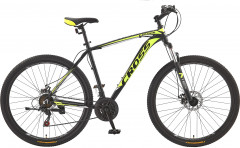 "Велосипед CrossBike Leader 21"" 29"" 2019 Black/Neon-yellow/White (29CJPr19-69)"